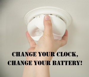 Smoke Detector- Change your Clock, Change your Battery!